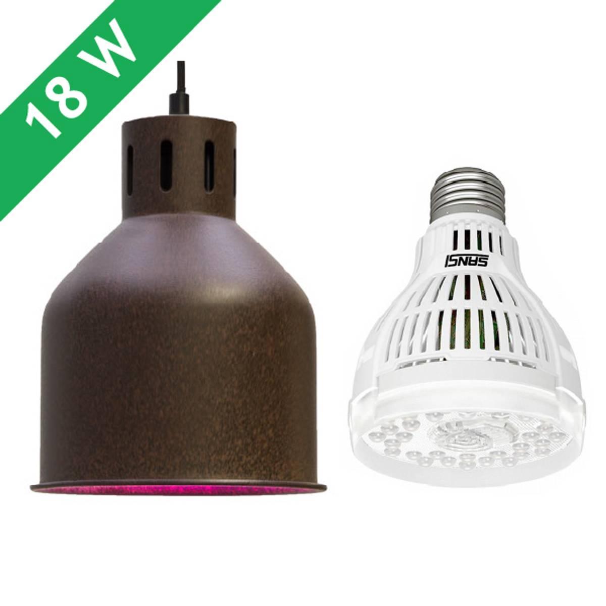 Saga armatur 'rust' med LED-pære 15 W