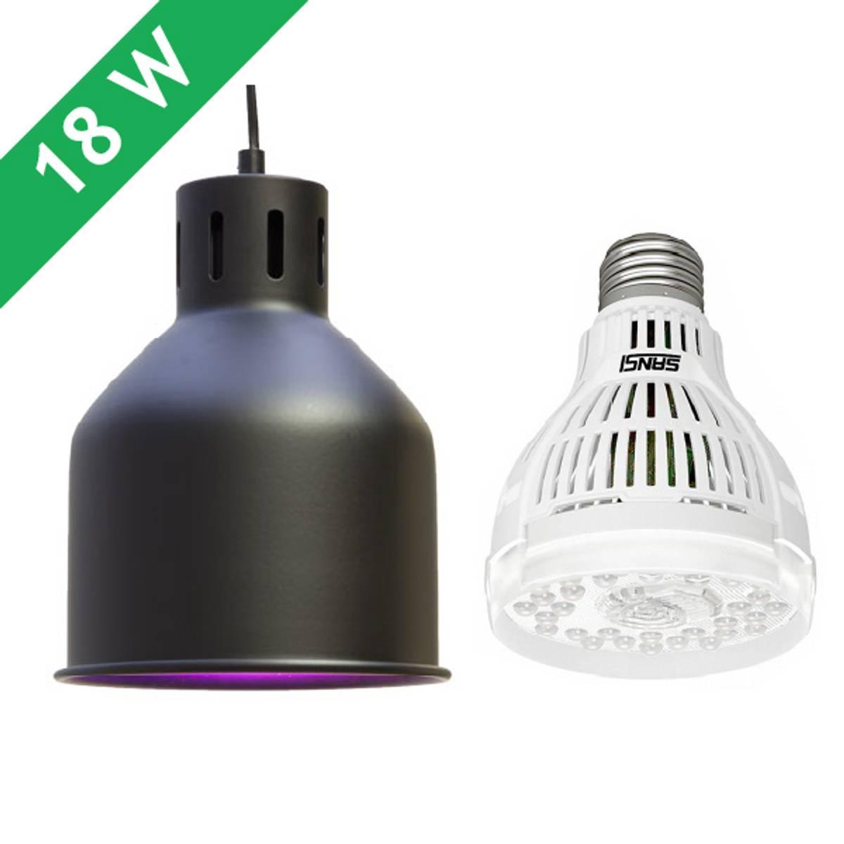 Saga armatur 'svart' med LED-pære 15 W