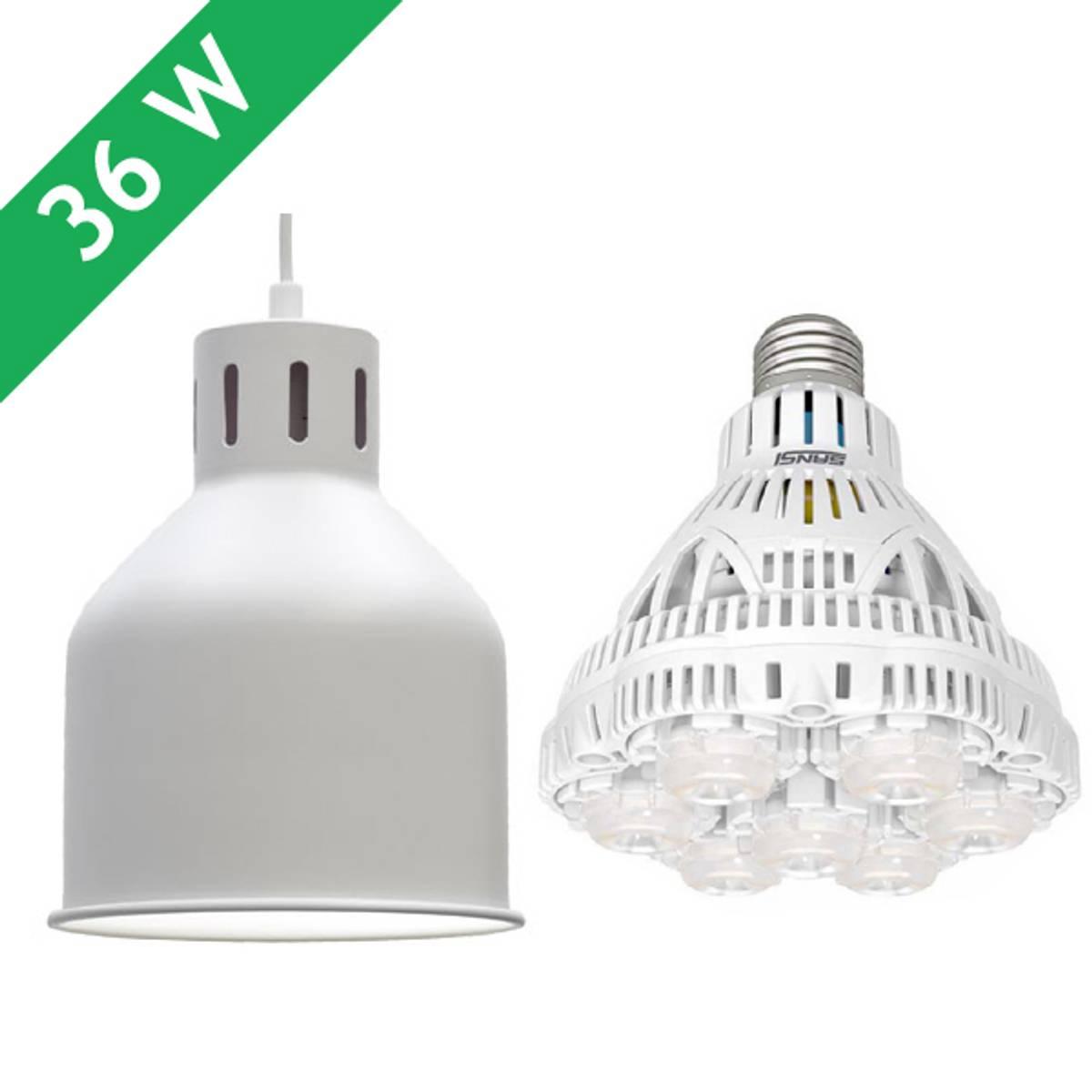 Saga armatur 'hvit' med LED-pære 36 W