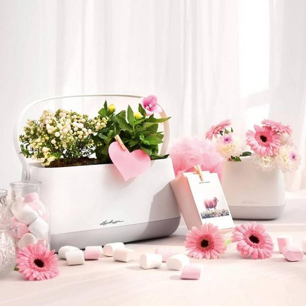 YULA Plant Bag 'White/Pearl Rose' Lechuza blomsterkasse